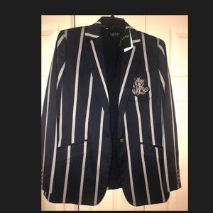 Ralph Lauren Navy Striped Blazer
